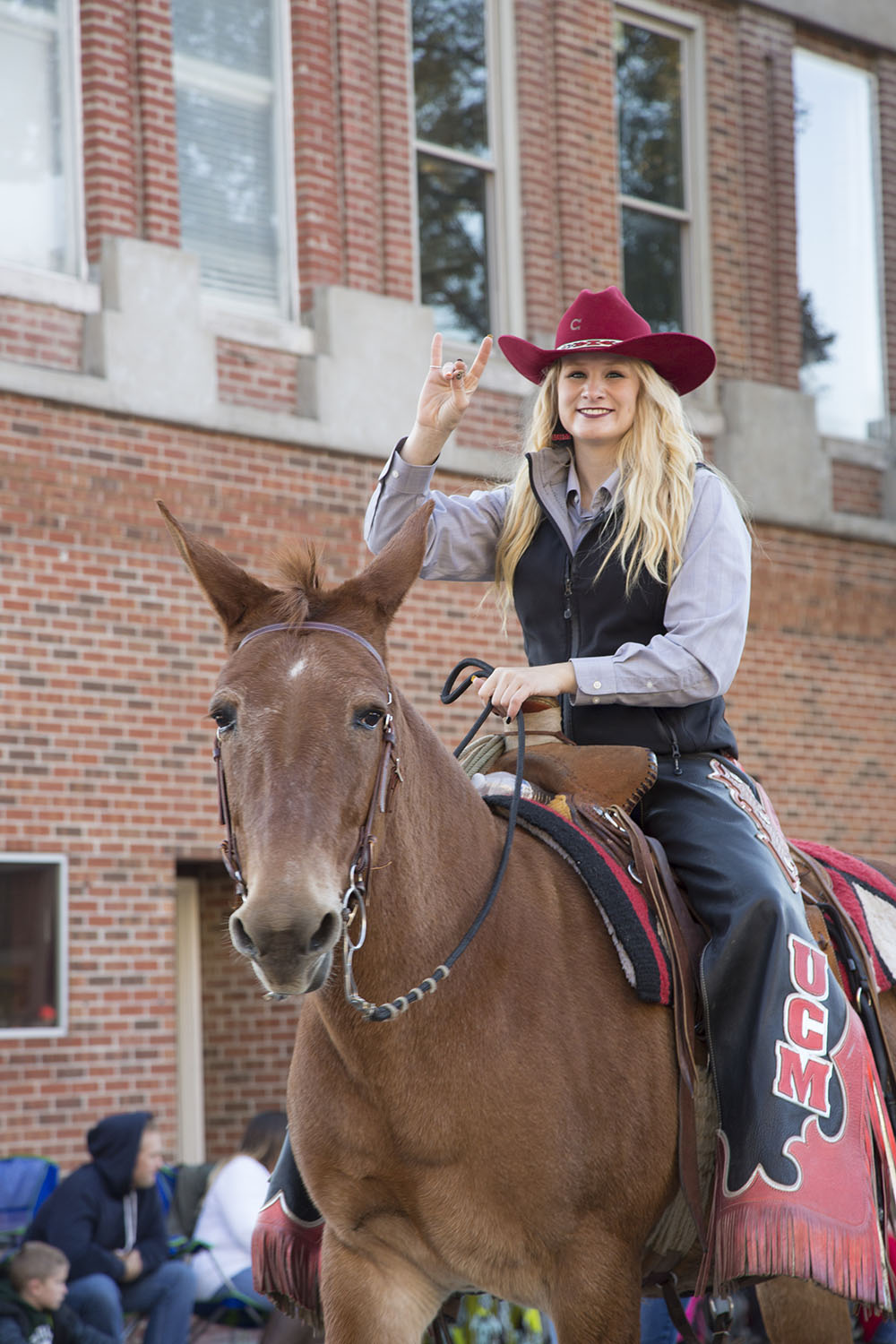 Mule in Homecoming Parade