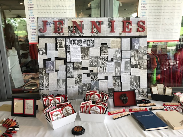 Jennies Basketball Reunion Display