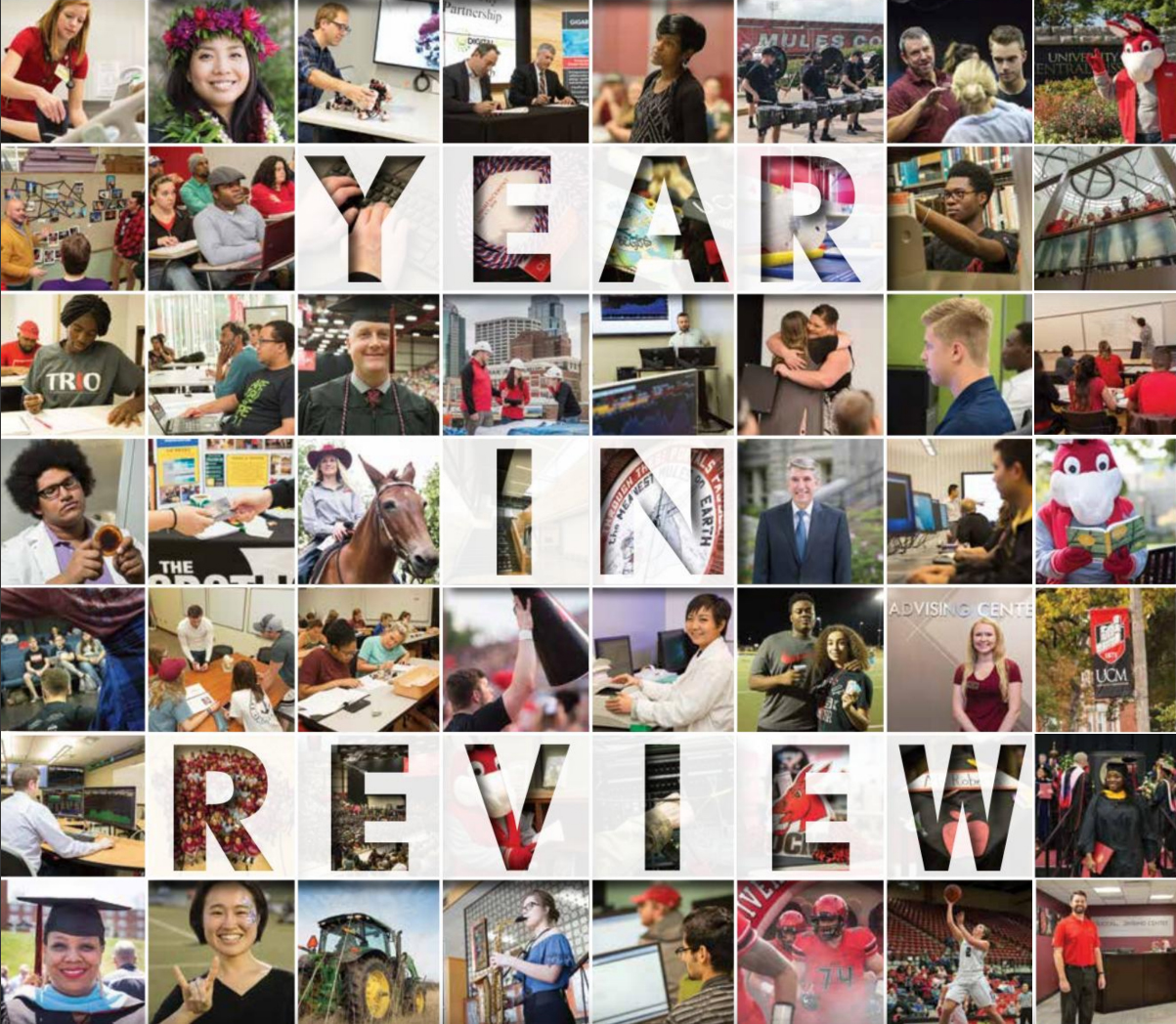 year in review collage